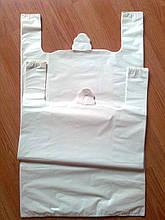 Пакеты белые 44х75 см/35 мкм большие без логотипа, майка белая без печати купить Украина