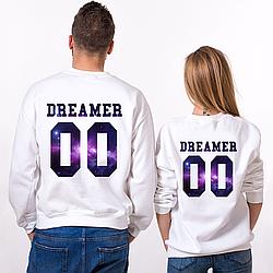 """Парные именные свитшоты """"Dreamer"""" - Space [Цифры можно менять] (50-100% предоплата)"""