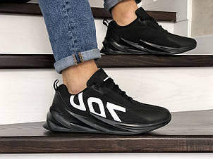 Мужские кроссовки демисезонные,повседневные 700 черные, фото 2