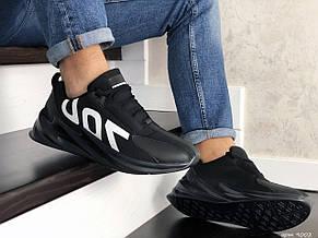 Мужские кроссовки демисезонные,повседневные 700 черные, фото 3