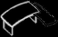 Крыло приставное Альянс 21\107 (570х1535х760)