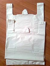 Пакет майка белый 44*83 см большой плотный, большие белые пакеты без печати плотные пакеты без логотипа купить