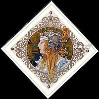 """Набор для вышивания крестом """"Альфонс Муха.Блондинка"""""""