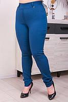 Брюки женские большого размера джинс-коттон цвет синий (48-66), фото 1