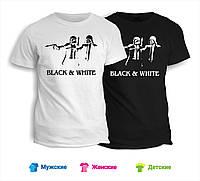 Футболка Black & White Криминальное чтиво