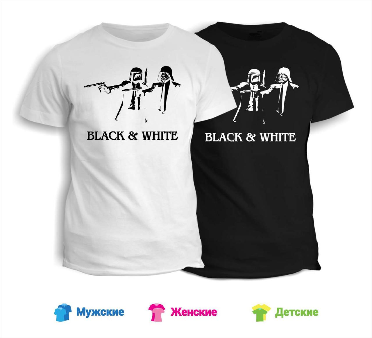Футболка Black & White Криминальное чтиво  - bezema в Одессе