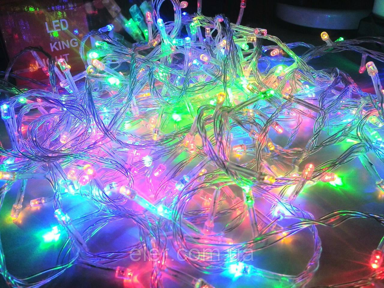 Гирлянда  LED 300л Разноцветная Есть опт