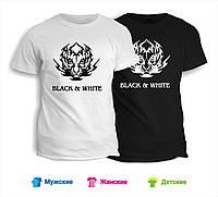 Футболка Black & White тигр