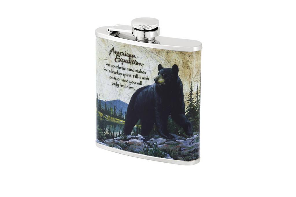 Фляга с рисунком медведя