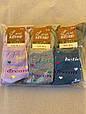 Жіночі носки Житомир Люкс шкарпетки стрейчеві з сердечком і надписом LOVE  36-39  12 шт в уп мікс 3 кольорів, фото 3
