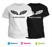 Футболка Black & White крылья