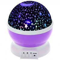 Ночник-проектор звездного неба Star Master Стар Мастер фиолетовый 142194