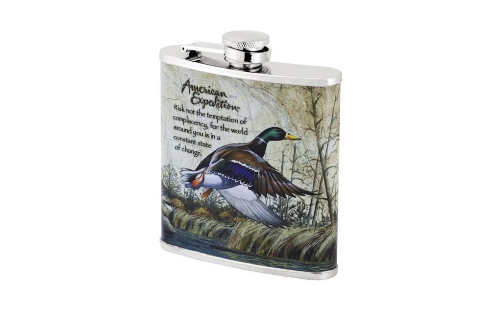 Фляга с рисунком  утки