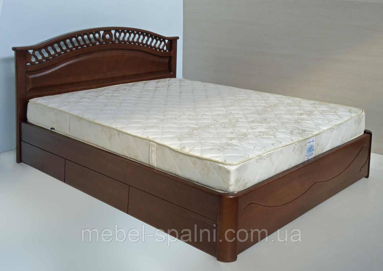 """Кровать двуспальная деревянная с ящиками """"Глория"""" kr.gl6.2"""