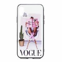 Чехол-накладка Glass Case Girls для Apple iPhone X / XS 5
