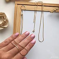 Цепочка на шею «Снейк Gold XS», из медицинского золота, фото 1