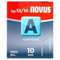 Скобы тонкие супертвердые NOVUS A53/10