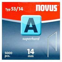 Скобы тонкие супертвердые NOVUS A53/14