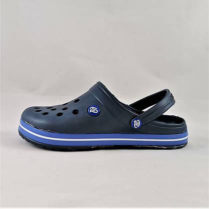 Мужские Тапочки CROCS Синие Кроксы Шлёпки (размеры: 43,44,45,46), фото 2