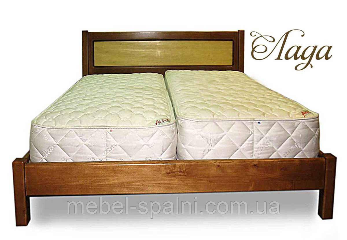 """Двоспальне ліжко дерев'яна """"Лада"""" kr.ld3.1"""