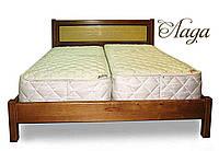 """Двоспальне ліжко дерев'яна """"Лада"""" kr.ld3.1, фото 1"""