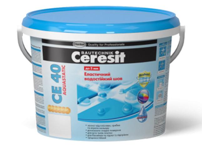 Водоотталкивающая затирка для швов CERESIT CE-40 киви (2 кг)