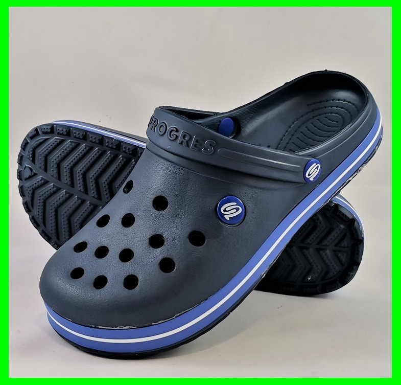 Мужские Тапочки CROCS Синие Кроксы Шлёпки (размеры: 43,44,45,46)