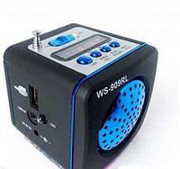 Портативная мини радио колонка WSTER WS-909 RL Цифровой радиоприемник Wester ЦИФРОВОЙ ДИСПЛЕЙ линейный AUX