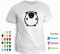 Футболка Black & White овечка