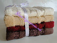 Набор полотенца банные (лицо, сауна) Cestepe 4шт. бамбук махра Турция