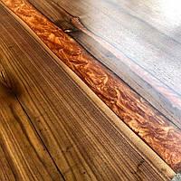 Стол из массива дерева с эпоксидной смолой река лофт мебель