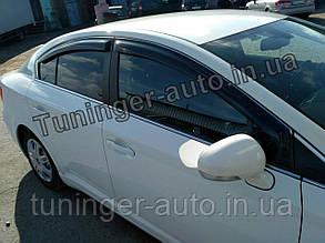 Дефлекторы окон (Ветровики) Toyota Avensis 2009-2015/2015- (Hic)