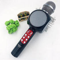 Беспроводной микрофон караоке bluetooth с подсветкой WSTER WS 1816 Black