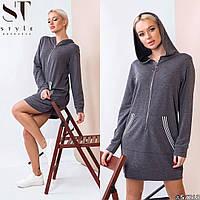 Платье в спортивном стиле / двунитка 19-223, фото 1