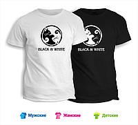 Футболка Black & White коты инь янь