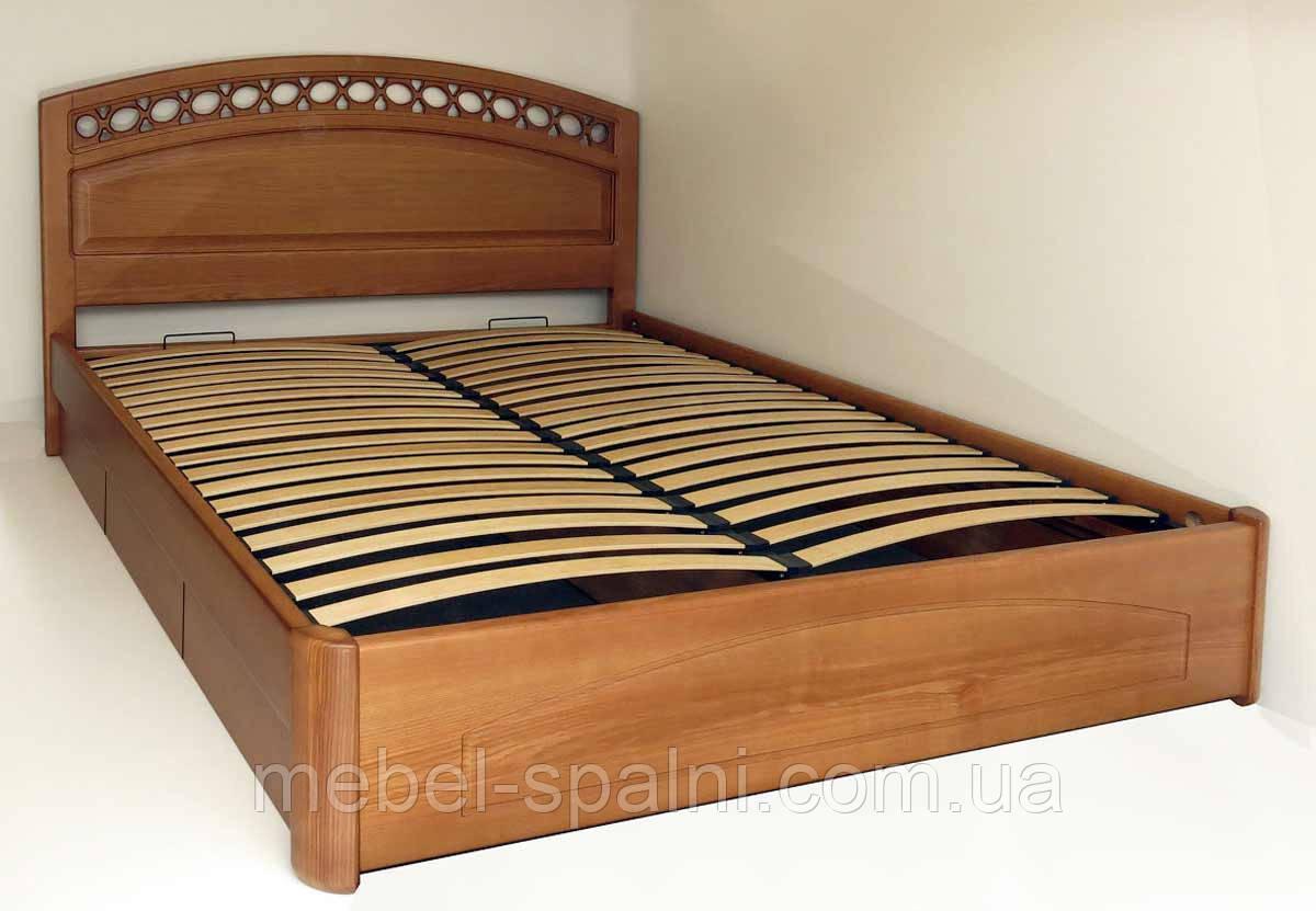 """Двуспальная кровать деревянная с ящиками """"Екатерина"""" kr.ek6.1"""
