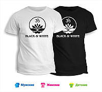 Футболка Black & White лотос