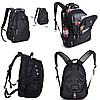 Рюкзак SwissGear Wenger с USB и дождевиком Черный - Фото