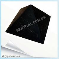 Пирамида шунгитовая 7*7 шунгитовый гармонизатор, шунгит камень, камень натуральный