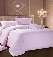 Комплект постельного белья Love You Евро Страйп-сатин 200х220 см Розовый