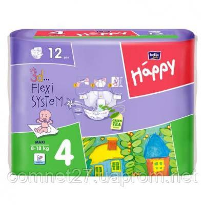 """Подгузник Bella Baby Happy Maxi 8-18 кг 12 шт (5900516600372) - Интернет магазин """"Компьютеры и сети"""" в Киеве"""