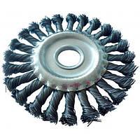 Щетка дисковая плетеная 125 мм Werk WE107425 (40393)