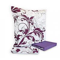 Комплект постельного белья Вилюта 8624 двухспальный Белый с фиолетовым