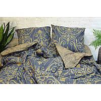 Комплект постельного белья Вилюта 17107 полуторный Сине-коричневый