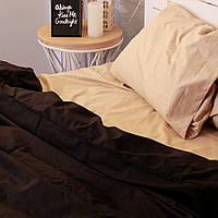Комплект постельного белья Хлопковые Традиции Евро 200x220 Коричнево-черный