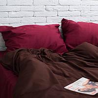 Комплект постельного белья Хлопковые Традиции Евро 200x220 Коричневый с красным