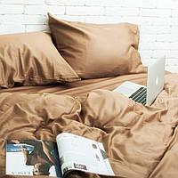 Комплект постельного белья Хлопковые Традиции семейный 200x220 Золотисто-кремовый