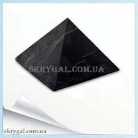 Пирамида шунгитовая 8*8 шунгитовый гармонизатор, шунгит камень, камень натуральный