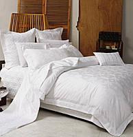 Комплект постельного белья Love You 1 Евро Жаккард 200х220 см Белый