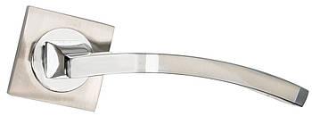Ручка дверна на розетці SIBA Assos KB, мат.нікель-хром